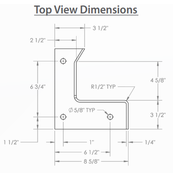 Top View Dimensions