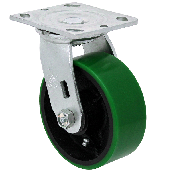 "27PU50JG0417YY: Durable USA 5"" polyon swivel caster"