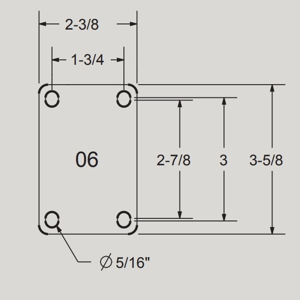06 Top Plate for Durable USA casters