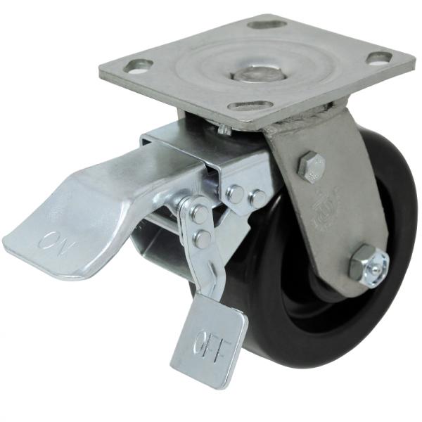 Durable LPI DT total locking caster